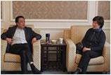 上海市首饰设计协会会长吴荷生会见老凤祥董事长石力华